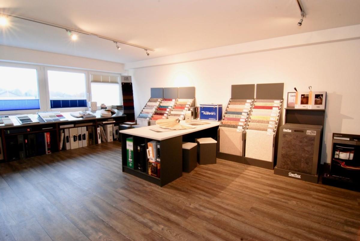 Die Teppich-Ausstellung von Bodenbeläge Sören Große in Kiel Heikendorf