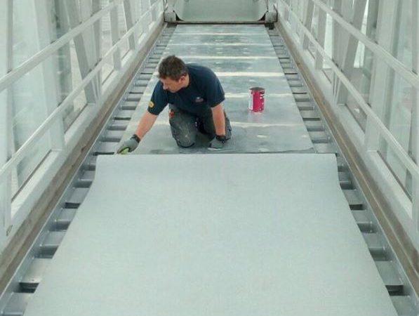 Gangway Bodenbelagsarbeiten Am Seehafen Kiel